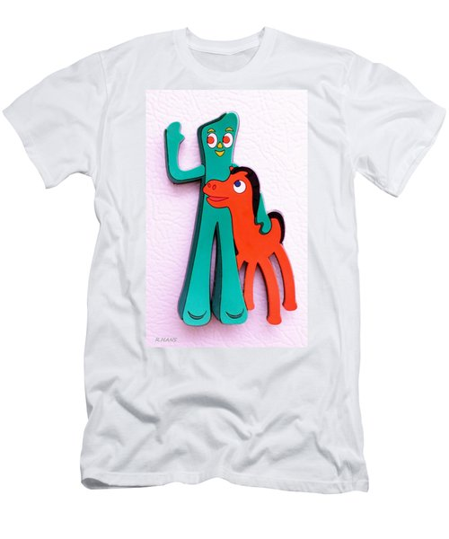 Gumby And Pokey B F F Men's T-Shirt (Athletic Fit)