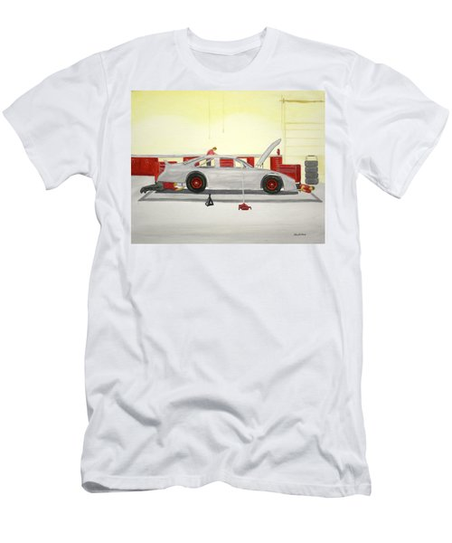 Guys Back At The Shop Men's T-Shirt (Athletic Fit)