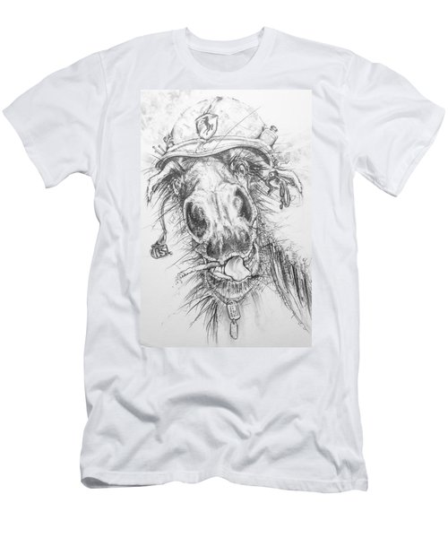 Hair-ied Horse Soilder Men's T-Shirt (Athletic Fit)