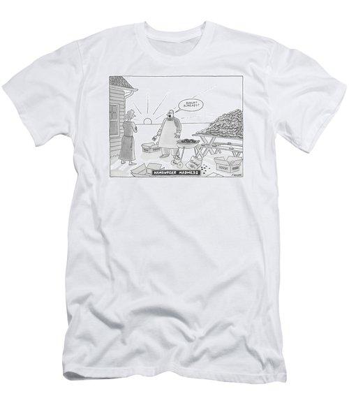 Hamburger Madness Men's T-Shirt (Athletic Fit)