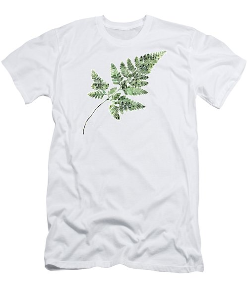 Men's T-Shirt (Slim Fit) featuring the photograph Happy Adventure Music Fern by Sandra Foster
