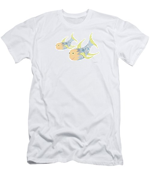 Happy Blue Fish Men's T-Shirt (Athletic Fit)