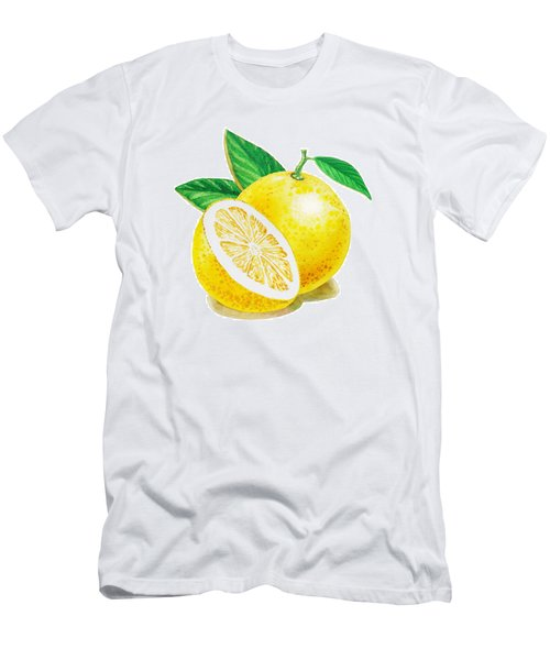 Happy Grapefruit- Irina Sztukowski Men's T-Shirt (Athletic Fit)