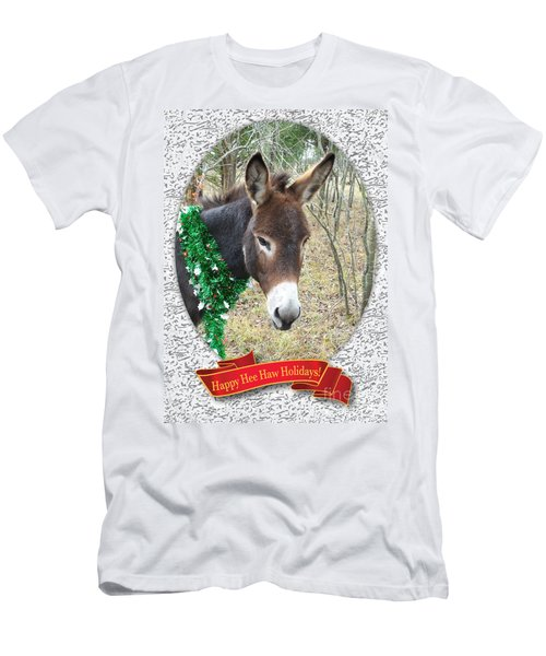 Happy Hee Haw Holidays Men's T-Shirt (Athletic Fit)