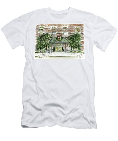 Happy Holidays At 1919 Madison Avenue In Harlem Men's T-Shirt (Slim Fit) by AFineLyne