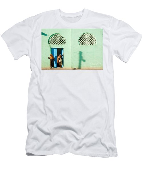 Harar Ethiopia Old Town City Mosque Girls Children Men's T-Shirt (Athletic Fit)