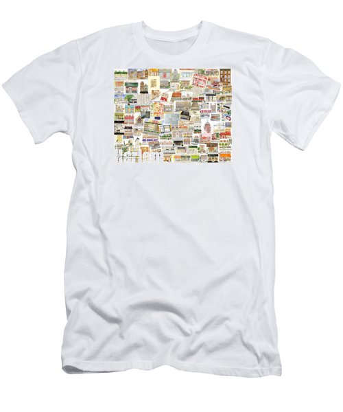 Harlem Collage Of Old And New Men's T-Shirt (Slim Fit) by AFineLyne
