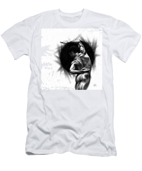 Men's T-Shirt (Slim Fit) featuring the drawing Harmony by Paul Davenport