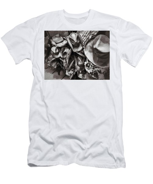 Hat Check Men's T-Shirt (Slim Fit) by Mark David Gerson