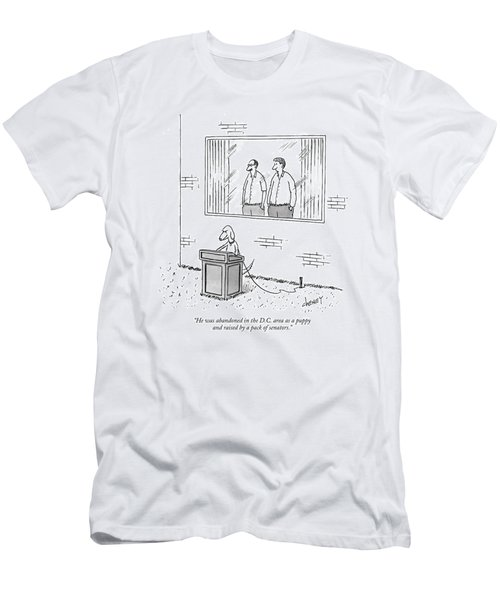 He Was Abandoned In The D.c. Area As A Puppy Men's T-Shirt (Athletic Fit)