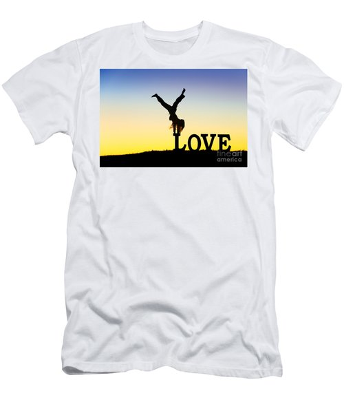 Head Over Heels In Love Men's T-Shirt (Athletic Fit)