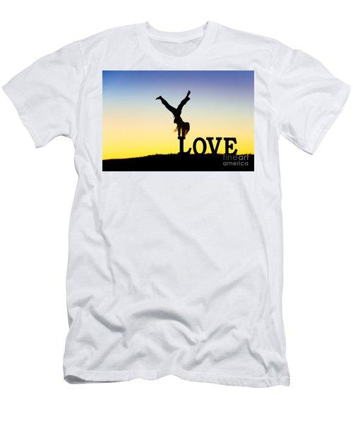 Head Over Heels In Love Men's T-Shirt (Athletic Fit)