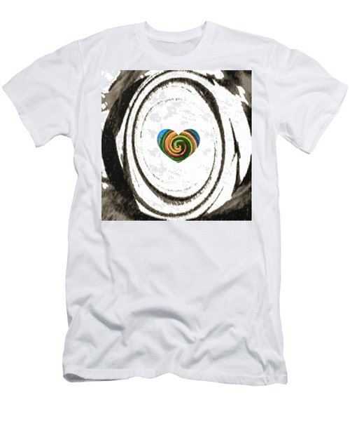 Men's T-Shirt (Slim Fit) featuring the digital art Heart Within by Catherine Lott