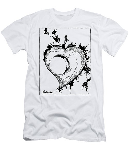 You Left A Whole In My Heart Men's T-Shirt (Slim Fit) by Dani Abbott