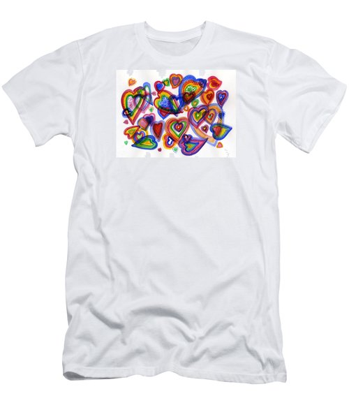Hearts Of Colour Men's T-Shirt (Athletic Fit)