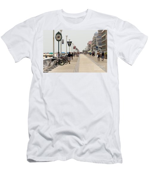 Heat Waves Make The Boardwalk Shimmer In The Distance Men's T-Shirt (Athletic Fit)
