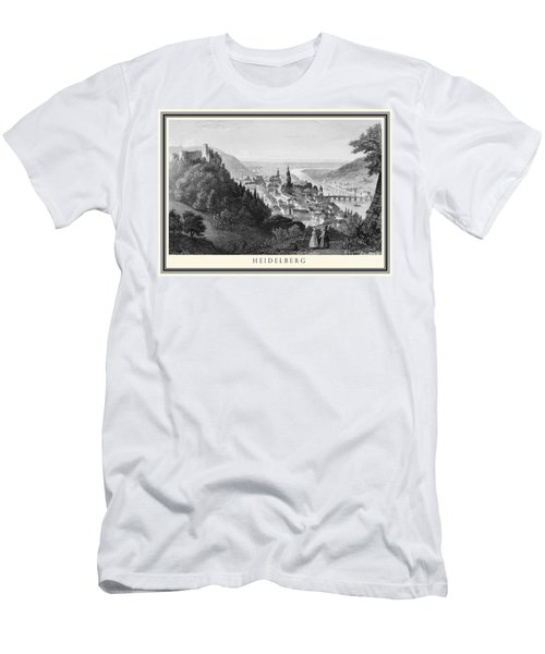 Heidelberg Etching Men's T-Shirt (Slim Fit) by Rudi Prott