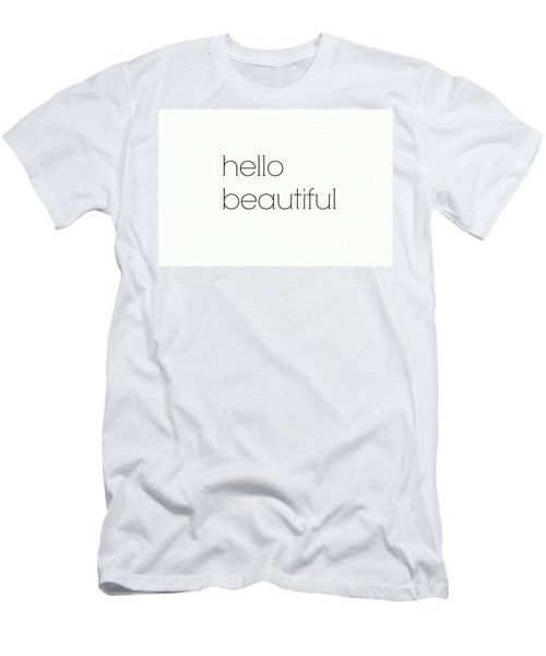 Hello Beautiful Men's T-Shirt (Athletic Fit)