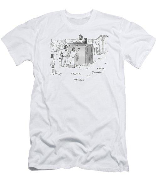 He's Clean Men's T-Shirt (Athletic Fit)