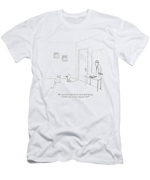 He's My Best Friend And He Works Hard All Day Men's T-Shirt (Athletic Fit)