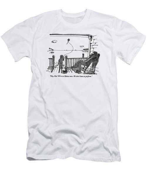 Hey, Ben! We're In Maine Now. We Don't Men's T-Shirt (Athletic Fit)