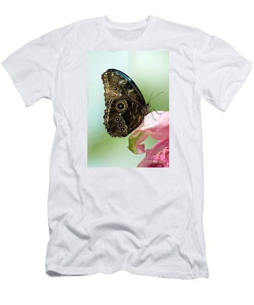 Men's T-Shirt (Slim Fit) featuring the photograph Hidden Beauty Of The Butterfly by Debbie Green