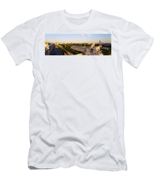 High Angle View Of A City, Royal Men's T-Shirt (Athletic Fit)