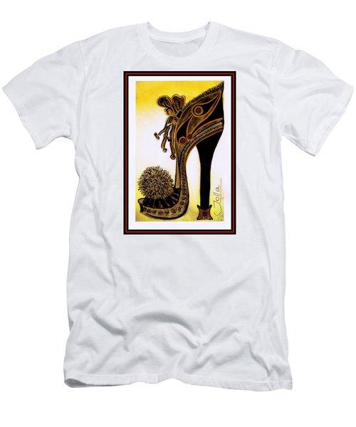 High Heel Heaven Men's T-Shirt (Slim Fit) by Jolanta Anna Karolska