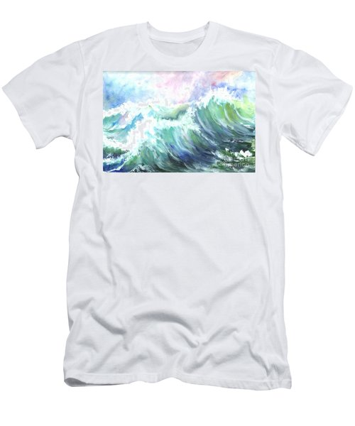 Men's T-Shirt (Slim Fit) featuring the painting High Seas by Carol Wisniewski