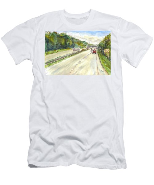 Highway 95 Men's T-Shirt (Athletic Fit)