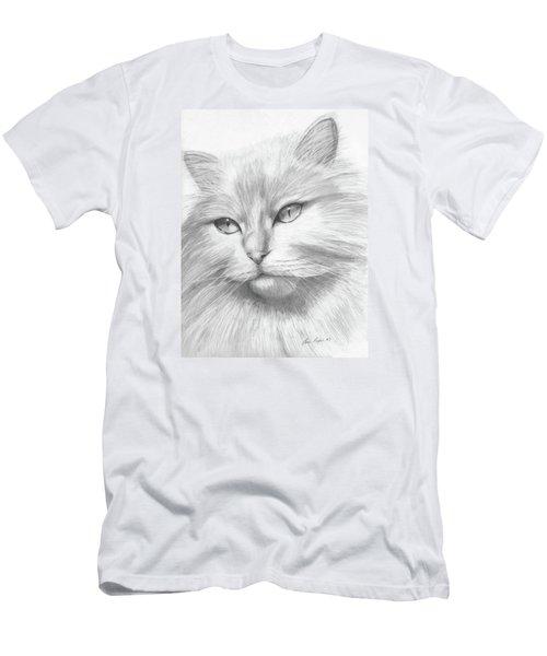 Himalayan Cat Men's T-Shirt (Slim Fit) by Lena Auxier