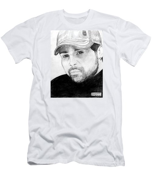 Men's T-Shirt (Slim Fit) featuring the painting Himesh Reshammiya by Salman Ravish