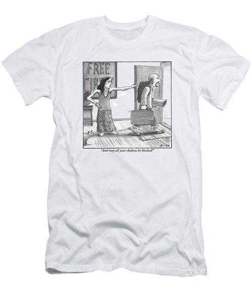 Hippie Girlfriend To Departing Hippie Husband Men's T-Shirt (Athletic Fit)