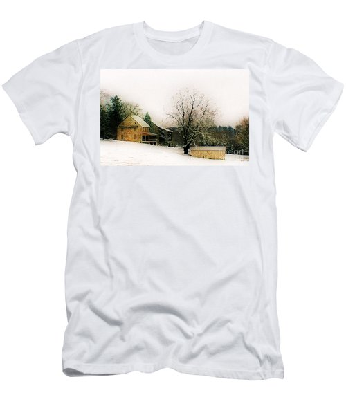 Men's T-Shirt (Slim Fit) featuring the photograph Historic 1700's Farmhouse by Polly Peacock