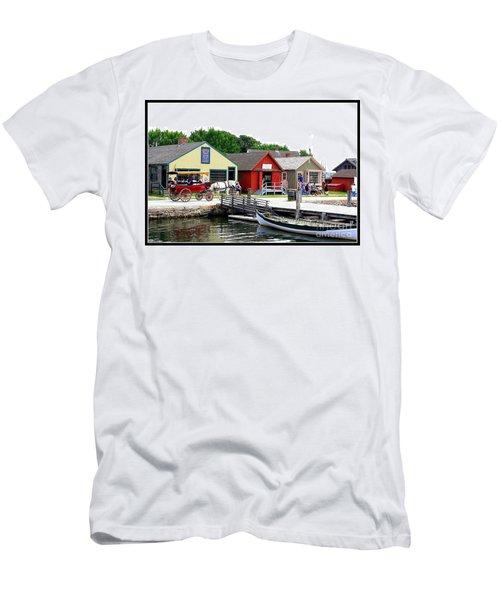 Historic Mystic Seaport Men's T-Shirt (Slim Fit) by Dora Sofia Caputo Photographic Art and Design