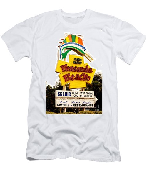 Historic Pensacola Beach Sign Men's T-Shirt (Athletic Fit)