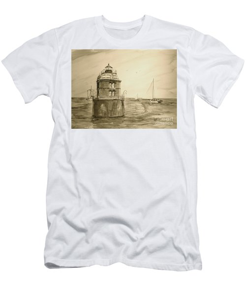 Historic Sandy Point Lighthouse  Men's T-Shirt (Athletic Fit)