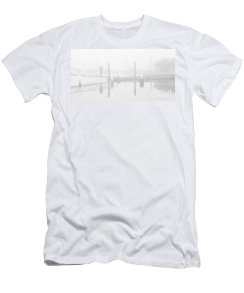 Historic Stewart Farm In The Fog Men's T-Shirt (Slim Fit) by Chris Dutton