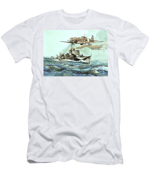 Hms Ledbury Men's T-Shirt (Slim Fit) by Ray Agius