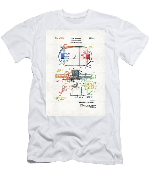 Hockey Art - Game Board - Sharon Cummings Men's T-Shirt (Athletic Fit)