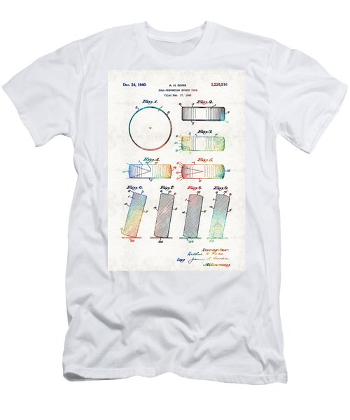 Hockey Art - Hockey Puck Patent - Sharon Cummings Men's T-Shirt (Athletic Fit)