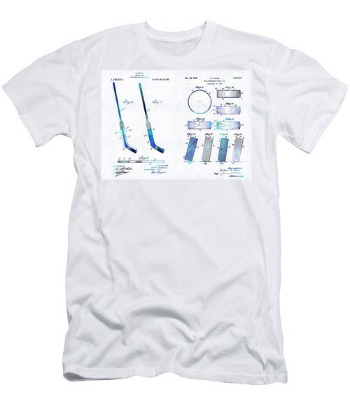 Hockey Art - Stick And Puck - Sharon Cummings Men's T-Shirt (Athletic Fit)