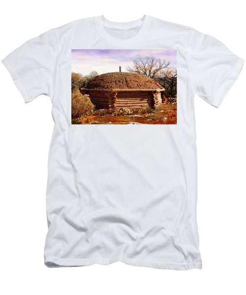Hogan Monument Valley Winter Painting Men's T-Shirt (Athletic Fit)