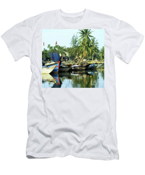 Hoi An Fishing Boats 01 Men's T-Shirt (Athletic Fit)