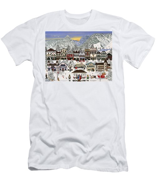Holiday Village Men's T-Shirt (Athletic Fit)