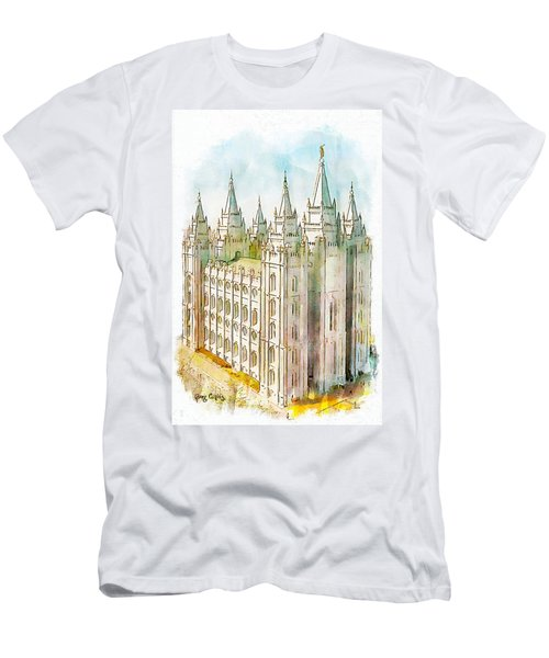Men's T-Shirt (Slim Fit) featuring the painting Holiness To The Lord by Greg Collins