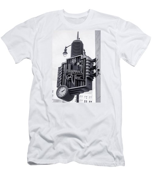 Hollywood Landmarks - Hollywood And Vine Sign Men's T-Shirt (Slim Fit) by Art Block Collections