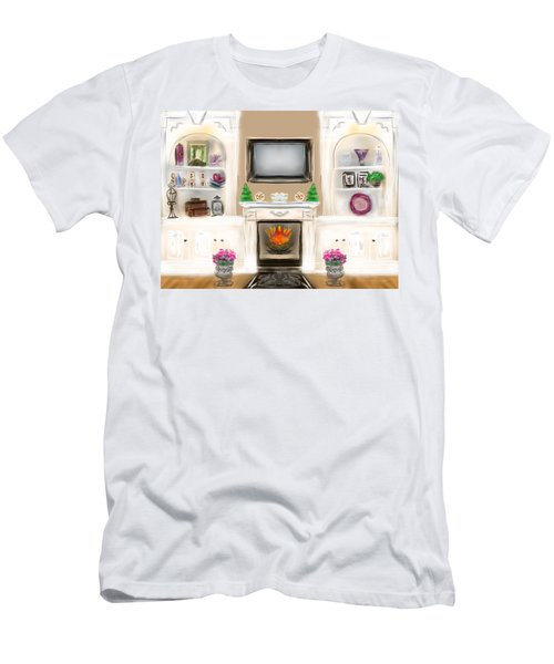Men's T-Shirt (Slim Fit) featuring the digital art Home For The Holidays by Christine Fournier