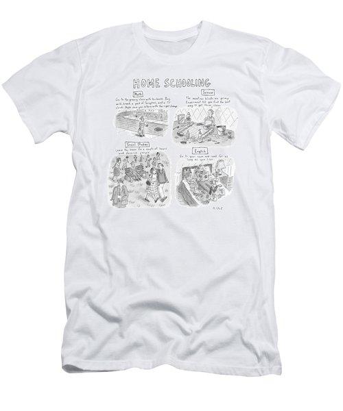 'home Schooling' Men's T-Shirt (Athletic Fit)