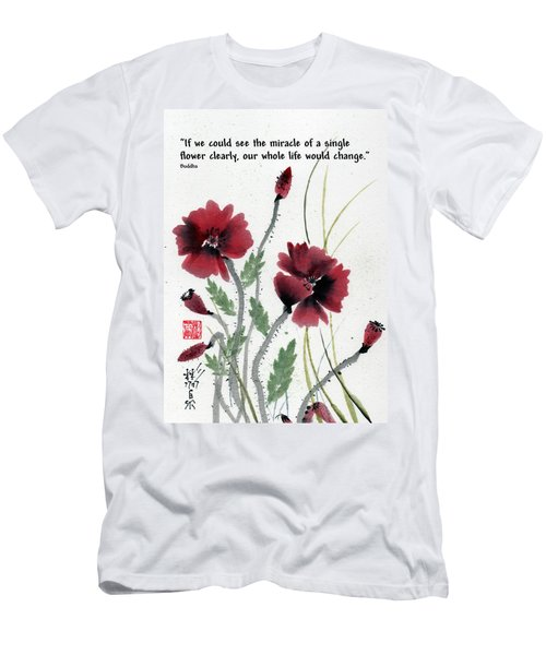 Men's T-Shirt (Slim Fit) featuring the painting Honor With Buddha Quote I by Bill Searle